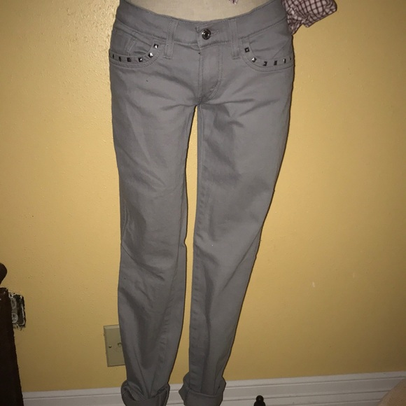 Levi's Denim - Levi's 524 Too Superlow gray stud jeans